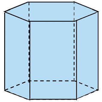 gambar prisma segi enam